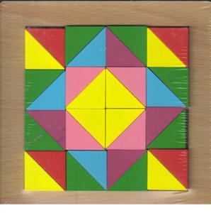 پازل چوبی  اشکال مختلف  15*15 (مربع)