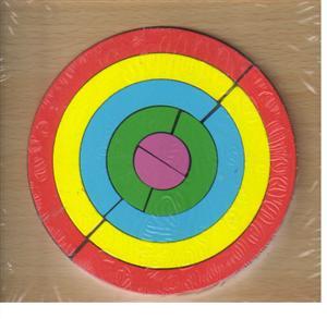پازل چوبی  اشکال مختلف  15*15 (دایره 10 تکه)
