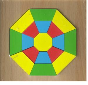 پازل چوبی  اشکال مختلف  15*15 (8 ضلعی 17 تکه)