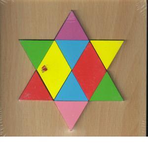 پازل چوبی  اشکال مختلف  15*15 (ستاره 10تکه)