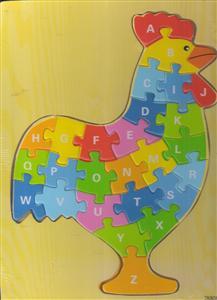 پازل چوبی حروف انگلیسی 30*20 خروس