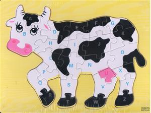 پازل چوبی حروف انگلیسی 30*20 گاو