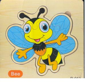 پازل چوبی طرح پازلی 15*15 (5 تکه زنبور)