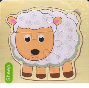 پازل چوبی طرح پازلی 15*15 (6 تکه گوسفند)