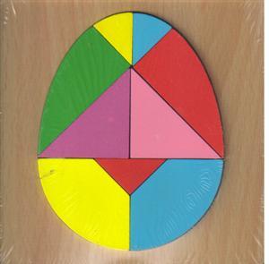 پازل چوبی  اشکال مختلف 15*15 (تخم مرغی 9 تکه)